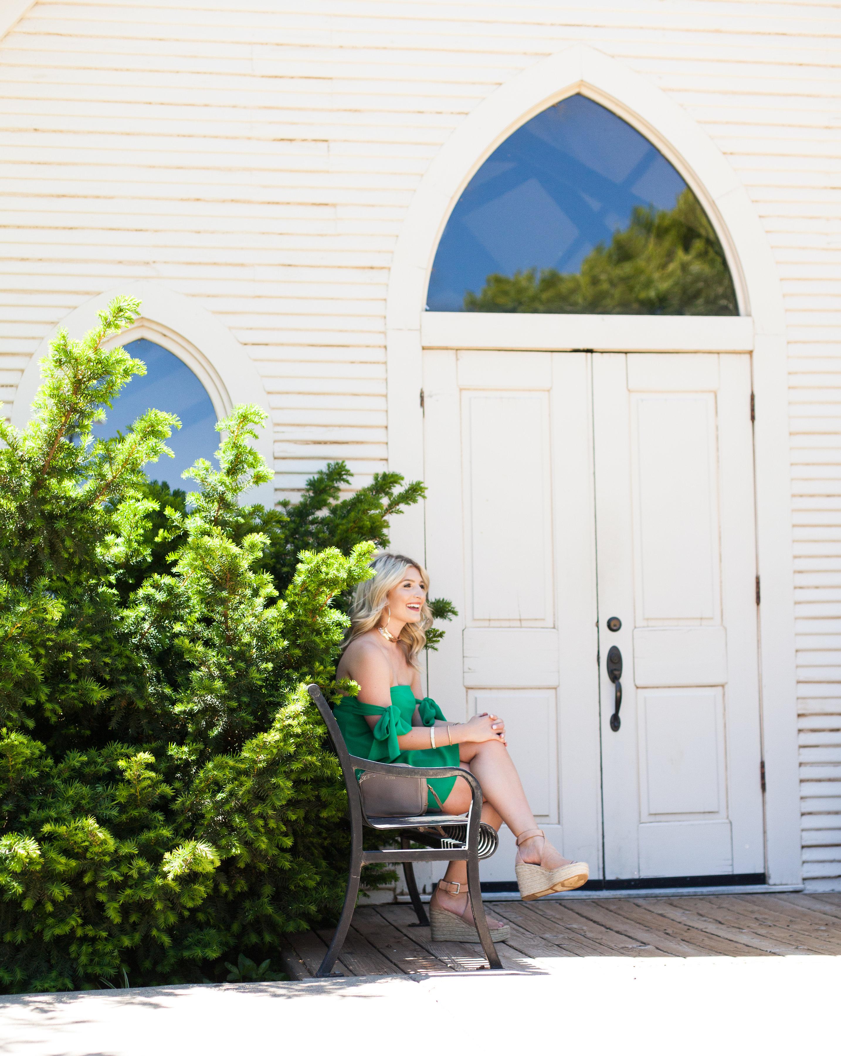 Girl In The Green Cold Shoulder Dress | Hot Color For Summer