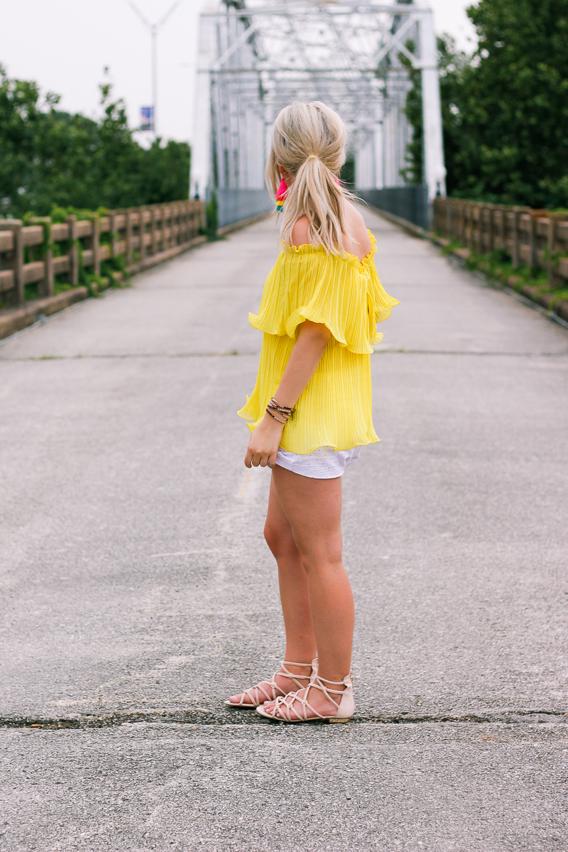 A Colorful Summer | Yellow and Fiesta Earrings | Fashion and lifestyle college blogger Audrey Madison Stowe|