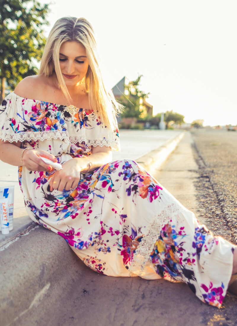 How I Take Care of Breakouts | Zapzyt | Clear Skin | Audrey Madison Stowe fashion and beauty blogger based in Texas - Zapzyt review by popular Texas beauty blogger, Audrey Madison Stowe