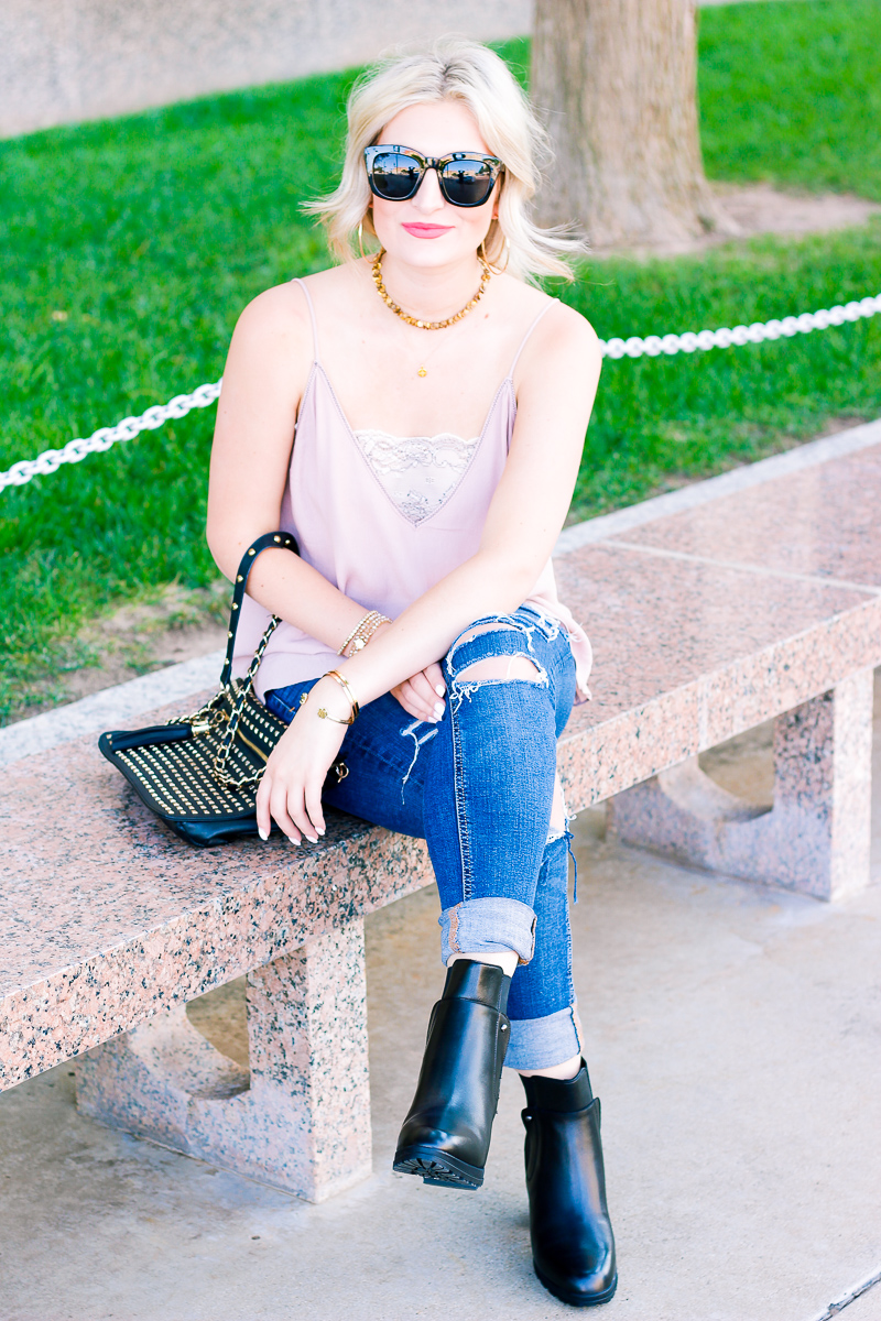 Black booties to transition from seasons   Audrey Madison Stowe a fashion and lifestyle blogger