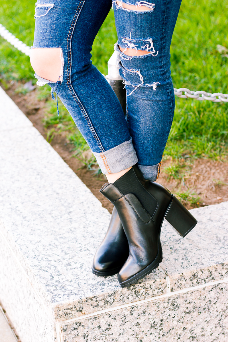 Black booties to transition from seasons | Audrey Madison Stowe a fashion and lifestyle blogger