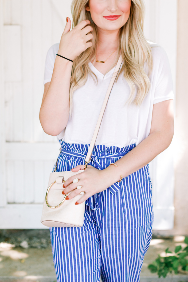 Striped Pants For Work, Church, and Play | Fashion and lifestyle blogger Audrey Madison Stowe | West Texas