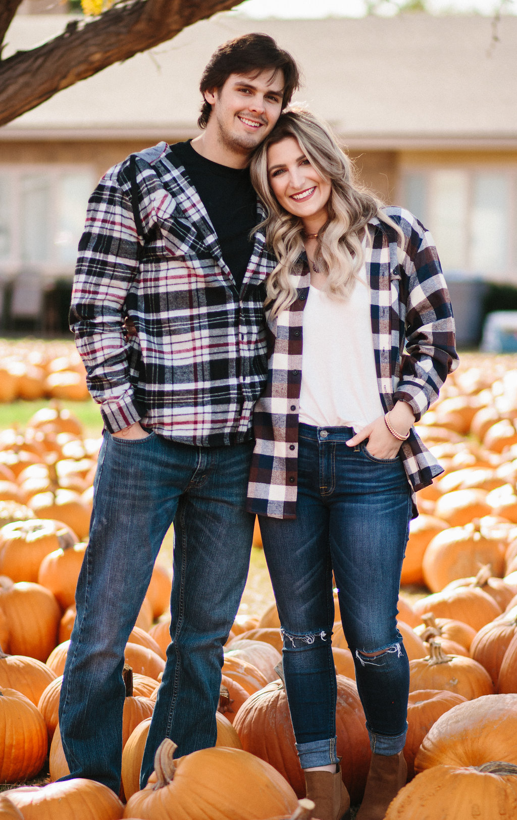 Flannel Season   His & Her   Texas Tech college students   Audrey Madison Stowe a fashion and lifestyle blogger