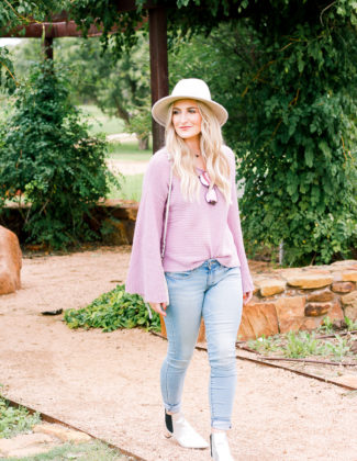 Low-Rise Jegging Jeans by DENIZEN® from Levi's® | Purple Sweater | AMS a fashion and lifestyle blog in Lubbock Texas