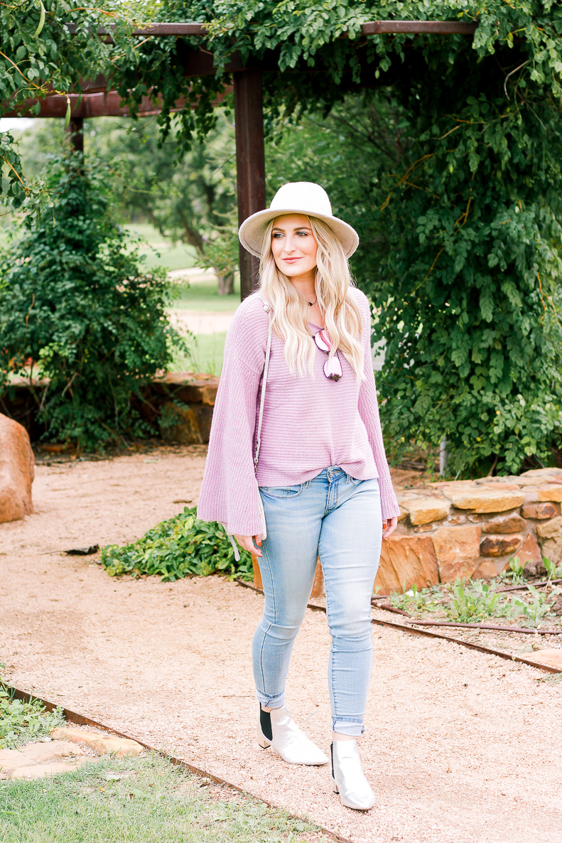 Low-Rise Jegging Jeans by DENIZEN® from Levi's®   Purple Sweater   AMS a fashion and lifestyle blog in Lubbock Texas