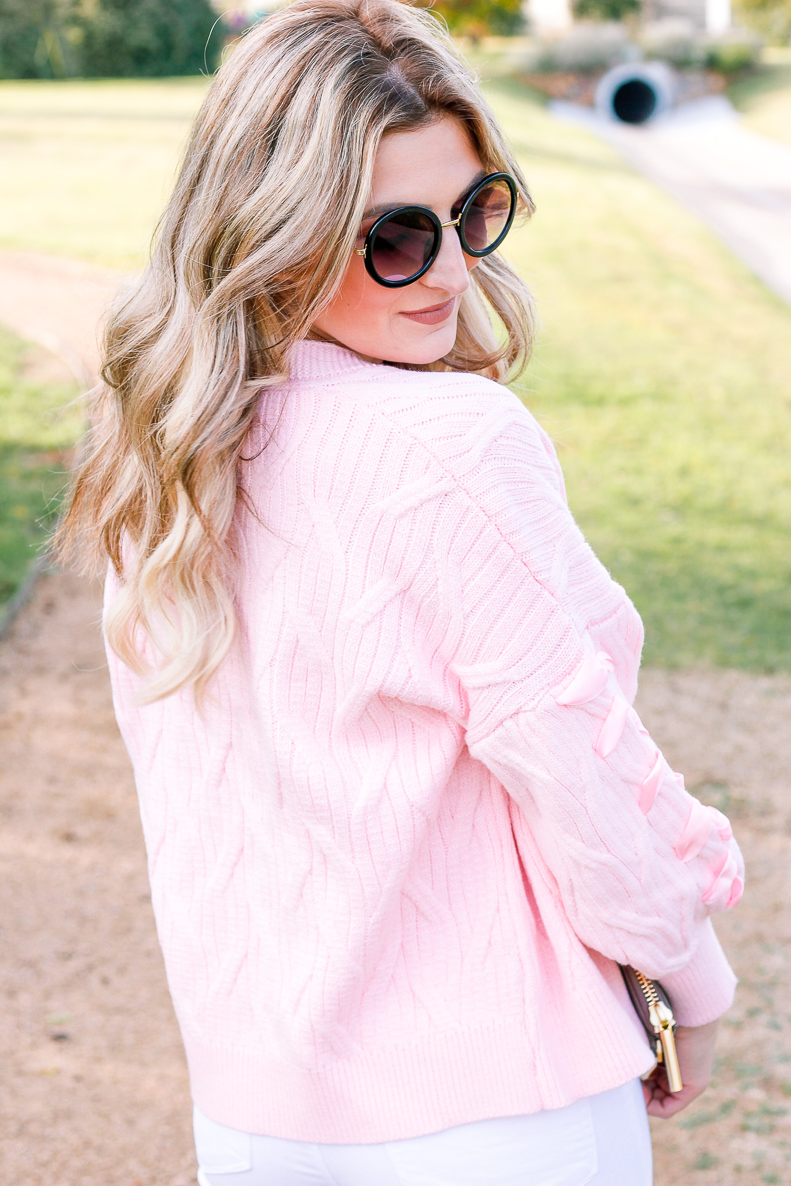 Pink Cardigan with Zaful | Fall Style | Girly things | Audrey Madison Stowe a fashion and lifestyle blogger