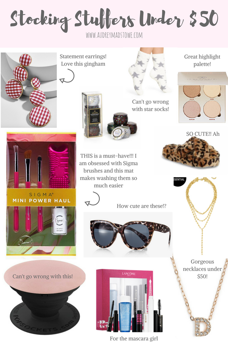 Stocking Stuffers Under $50   Affordable gifts   Audrey Madison Stowe a fashion and lifestyle blogger - Ultimate Gift Guide: Gifts For Everyone by Texas style blogger Audrey Madstowe