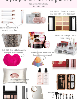 Gift Guide for The Beauty Lover | Holiday Gift ideas | Audrey Madison Stowe a fashion and lifestyle blogger
