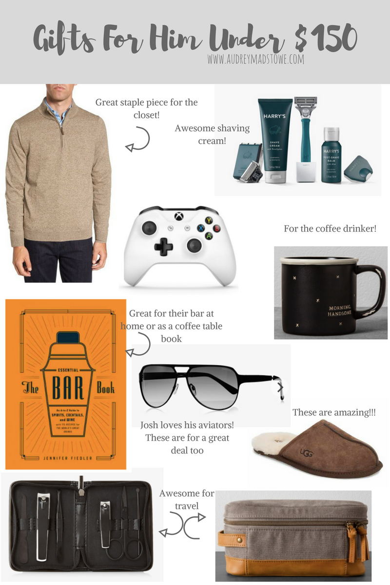Gifts For Him Under $150 | Audrey Madison Stowe a fashion and lifestyle blogger - Ultimate Gift Guide: Gifts For Everyone by Texas style blogger Audrey Madstowe
