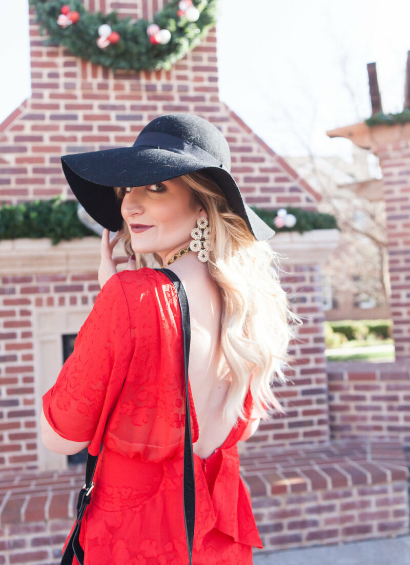 Holiday Inspired Look | Red Dress | Audrey Madison Stowe a fashion and lifestyle blog