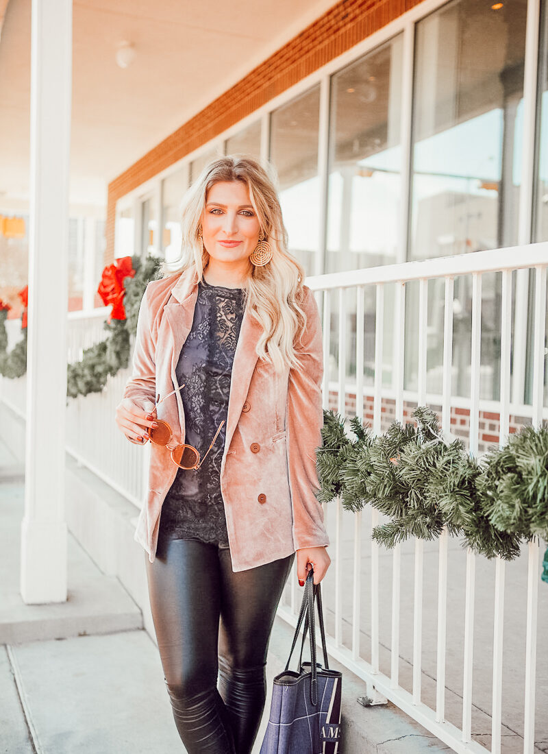 Ringing in the New Year | Velvet Blazer | Audrey Madison Stowe a fashion and lifestyle blogger