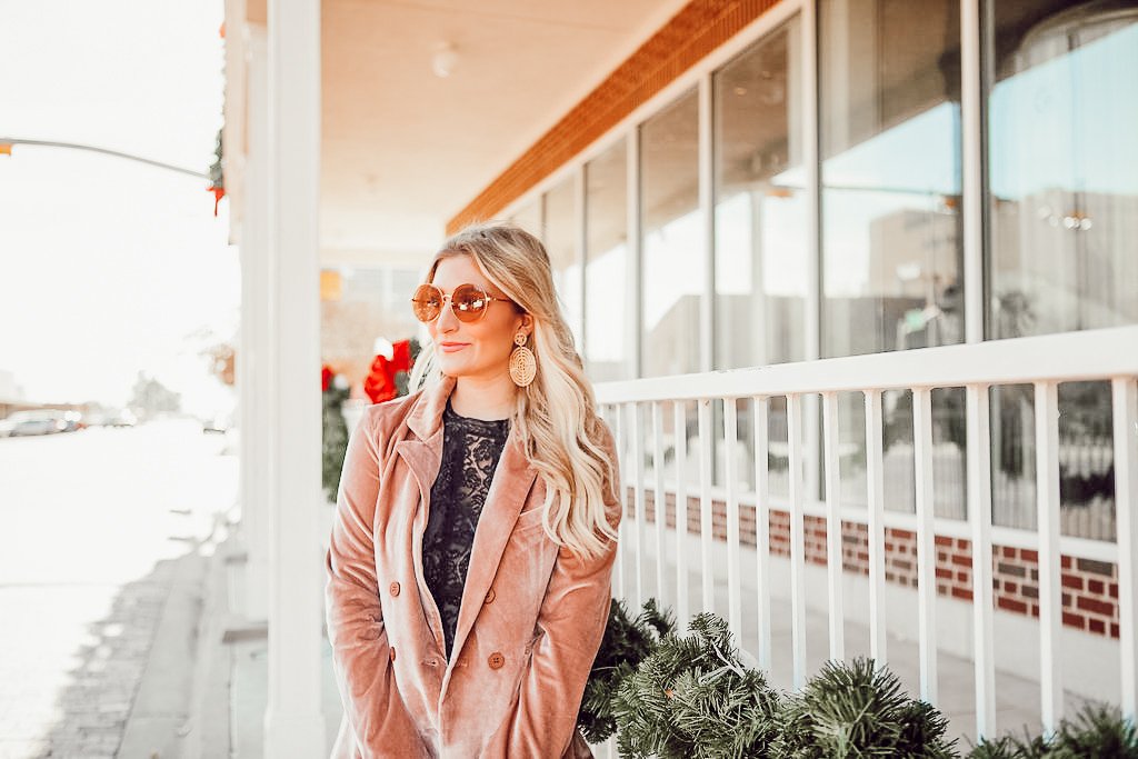 Ringing in the New Year | Velvet Blazer | Audrey Madison Stowe a fashion and lifestyle blogger - A Look Back at 2017 & Velvet Blazer by popular Texas style blogger Audrey Madstowe