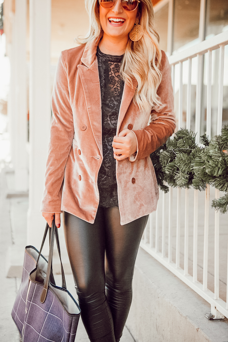 Ringing in the New Year   Velvet Blazer   Audrey Madison Stowe a fashion and lifestyle blogger - A Look Back at 2017 & Velvet Blazer by popular Texas style blogger Audrey Madstowe