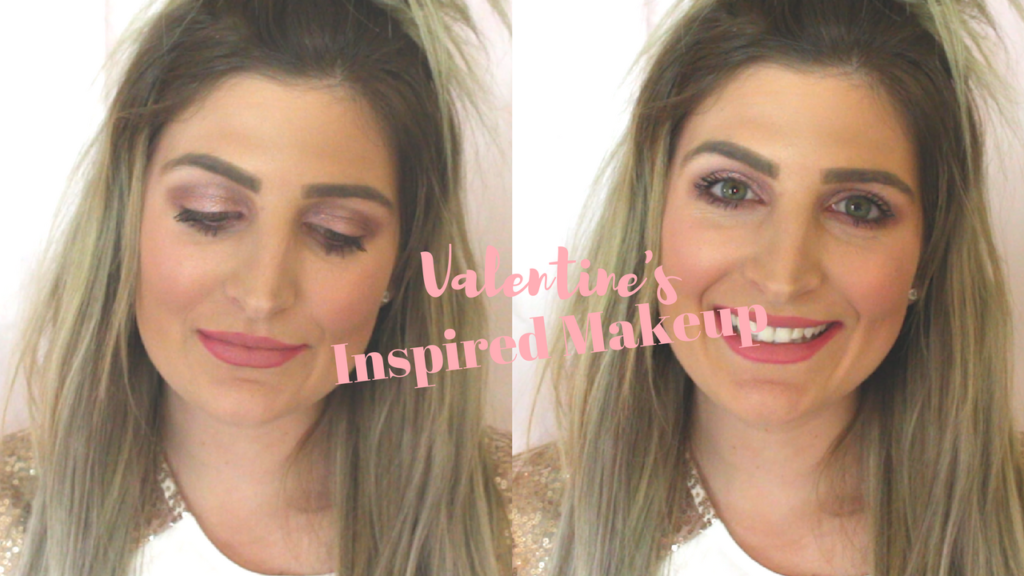 Valentine's Makeup Look | Rose Gold Eyes |