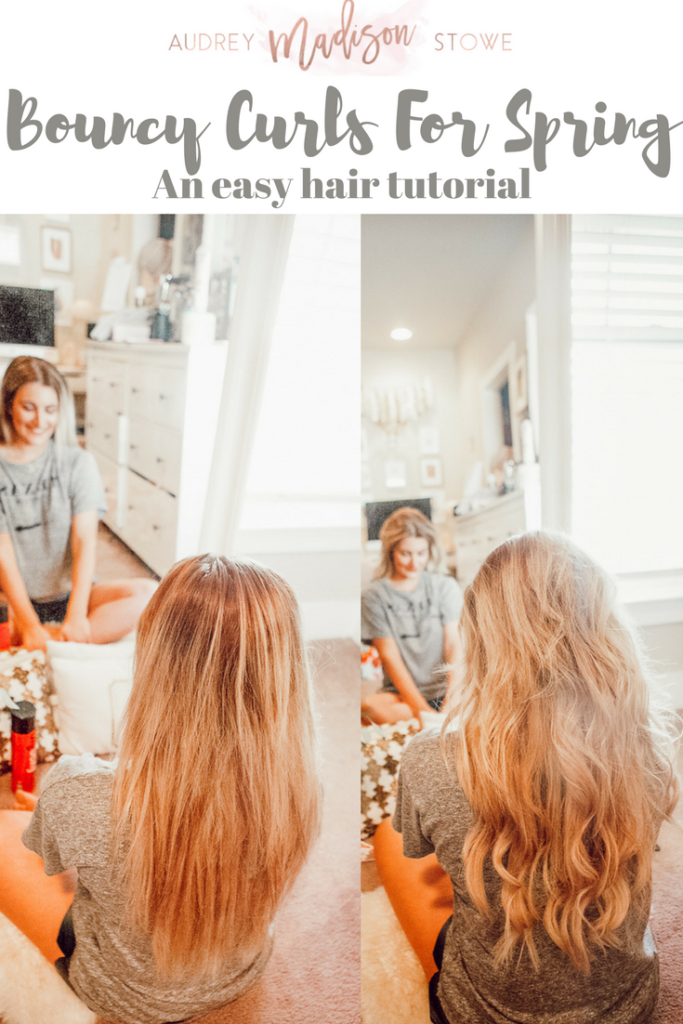 Bouncy Spring Curls For Spring With Bombay Hair | Hair Tutorial Inspo | Audrey Madison Stowe a Fashion and Lifestyle Blogger - Bouncy Curls For Spring With Bombay Hair by popular Texas style blogger Audrey Madison Stowe