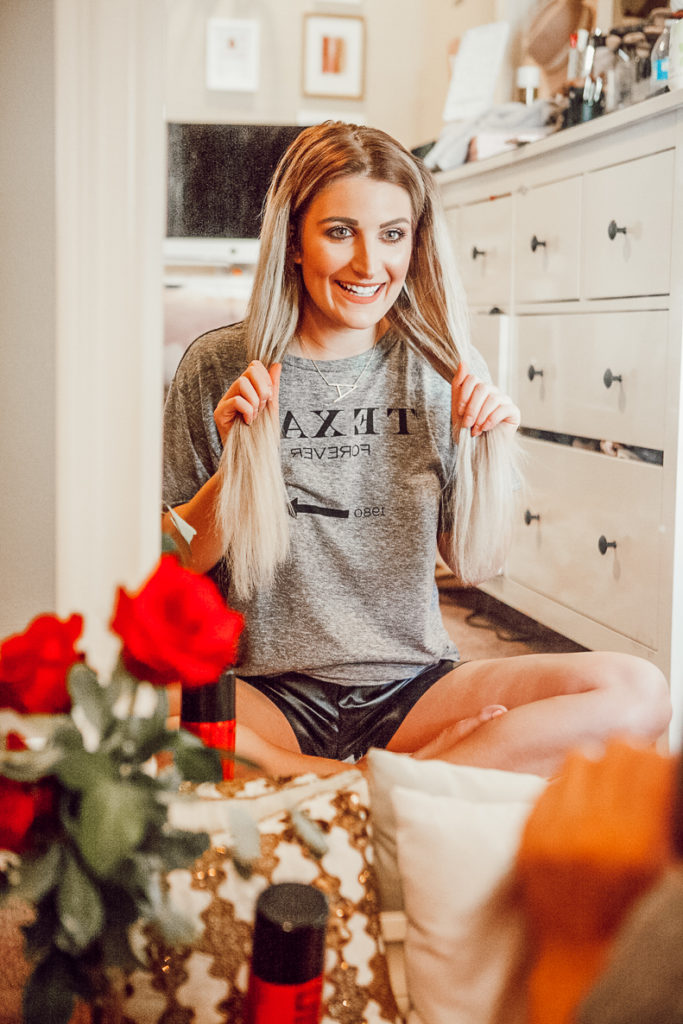 Bouncy Spring Curls For Spring With Bombay Hair   Hair Tutorial Inspo   Audrey Madison Stowe a Fashion and Lifestyle Blogger - Bouncy Curls For Spring With Bombay Hair by popular Texas style blogger Audrey Madison Stowe