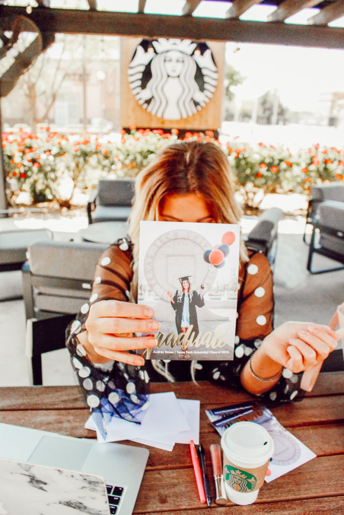 Texas Tech Graduation Announcements with Snapfish   Audrey Madison Stowe a fashion and lifestyle blogger