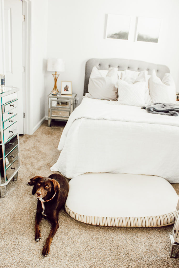 Contemporary Master Bedroom Tour at Park East featured by popular Texas lifestyle blogger Audrey Madison Stowe