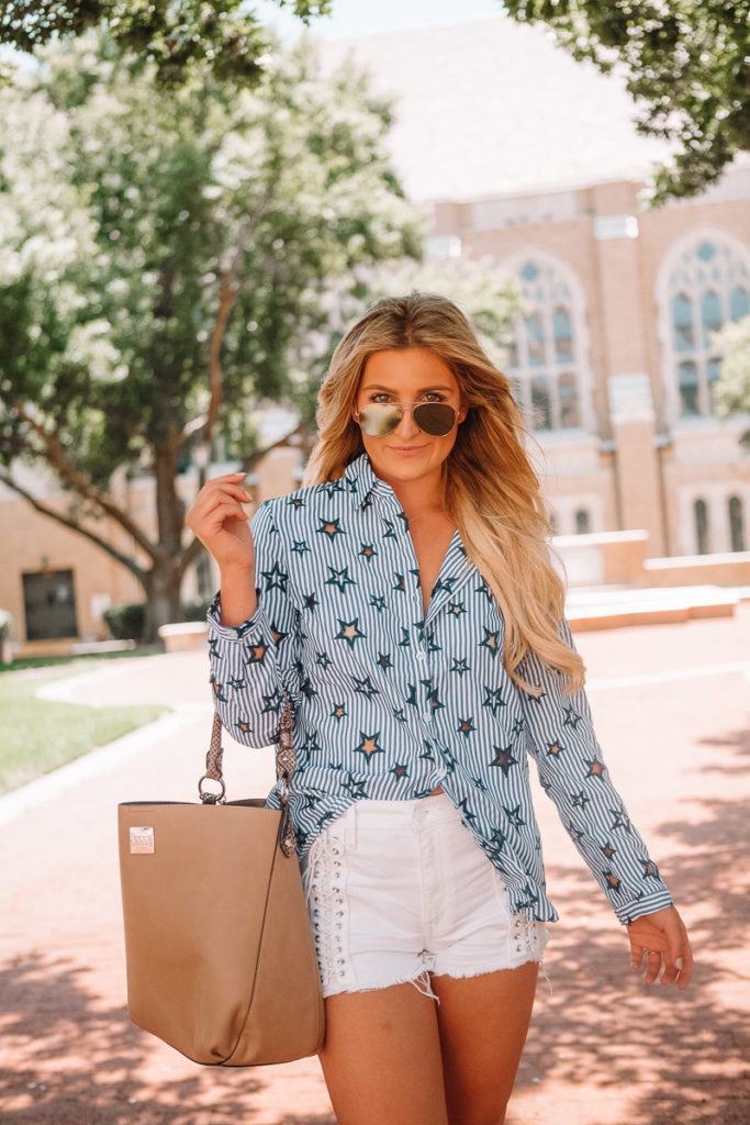 The Star Blouse That's Cute For Everything featured by popular Texas fashion blogger Audrey Madison Stowe