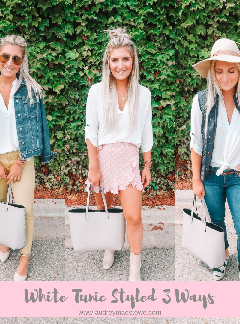 White Tunic Styled 3 Ways | Everyday Blouse