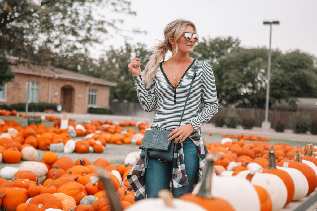 Pumpkin Patch | Halloween | Happy Halloween! | Casual Fall Outfit featured by top Texas fashion blog Audrey Madison Stowe