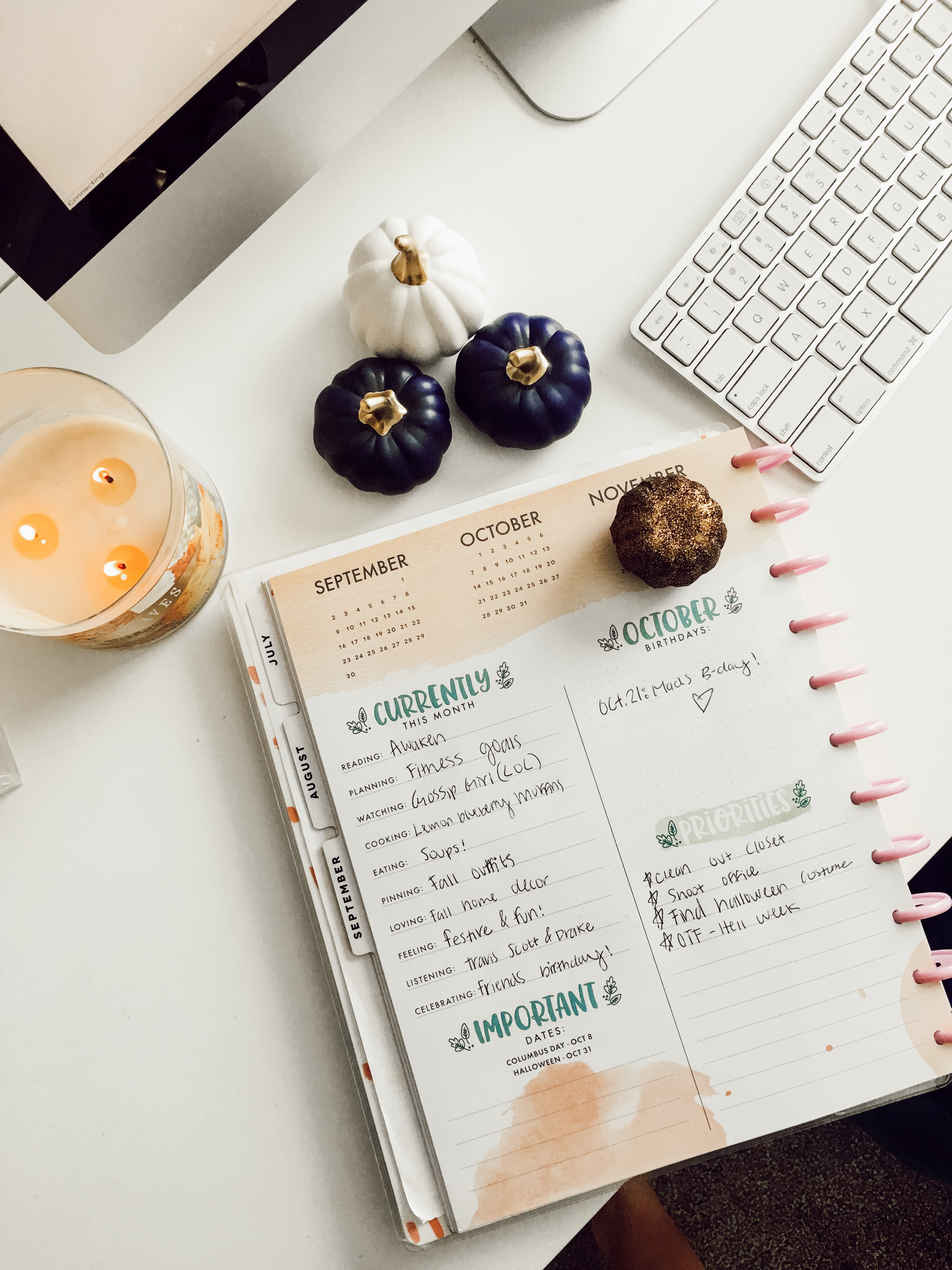 #AMSCurrently.... | October FAvorites 2018 | The Happy Planner | Audrey Madison Stowe a fashion and lifestyle blogger