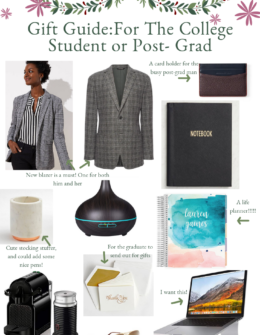Holiday Gift Guide for the Post Grad or College Student | Audrey Madison Stowe a fashion and lifestyle blogger based in Texas