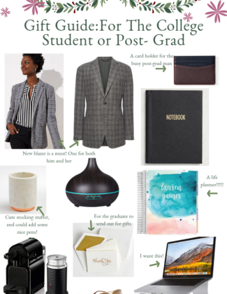 Holiday Gift Guide for the Post Grad or College Student   Audrey Madison Stowe a fashion and lifestyle blogger based in Texas