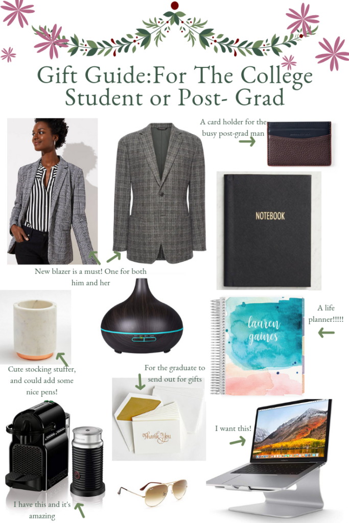 Gift Ideas For College Students or Post- Grads featured by top Texas life and style blogger Audrey Madison Stowe
