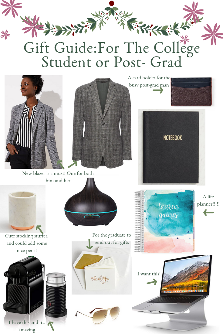 Gift Ideas For College Students or Post- Grads