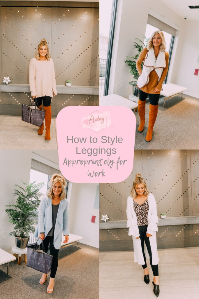 How To Style Leggings For Work featured by top US fashion blogger Audrey Madison Stowe