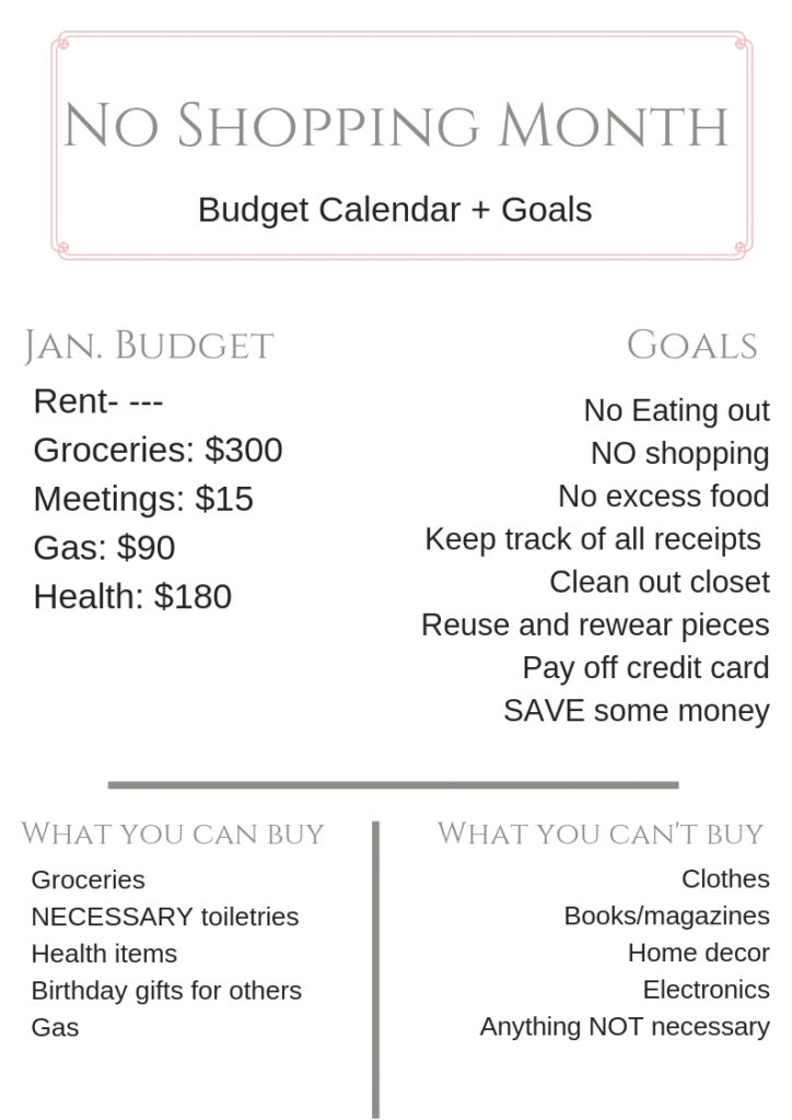 Budget | No shopping in Jan 2019 | I'm Doing A No Spend Month featured by top Texas fashion blogger Audrey Madison Stowe