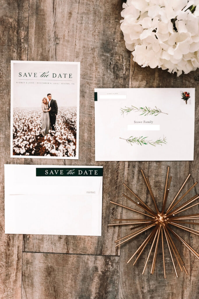 Save The Date Ideas featured by top US lifestyle blogger Audrey Madison Stowe