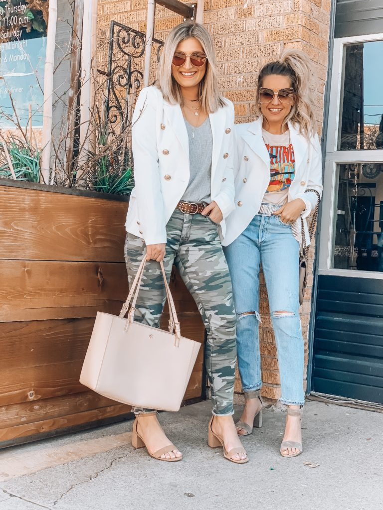 Two Ways To Style a White Blazer | Lubbock, Texas Bloggers | Audrey Madison Stowe a fashion and lifestyle blogger