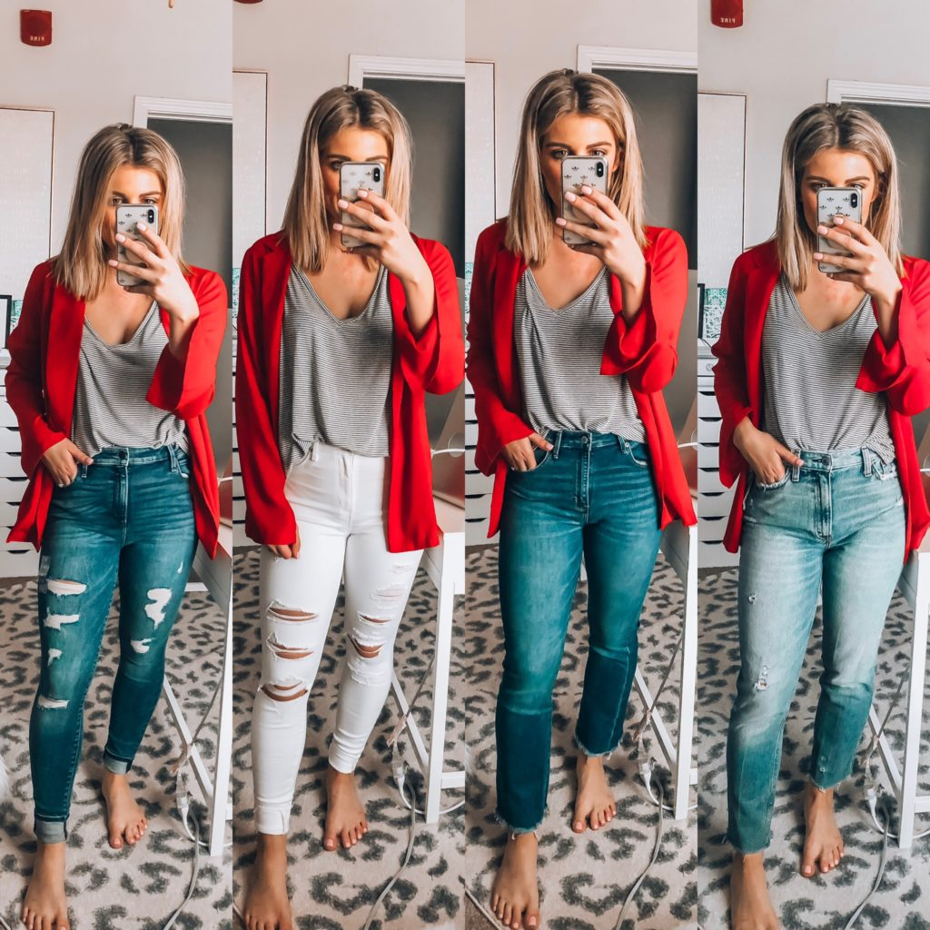 Spring Denim Styles   Abercrombie Jeans   Audrey Madison Stowe a fashion and lifestyle blogger