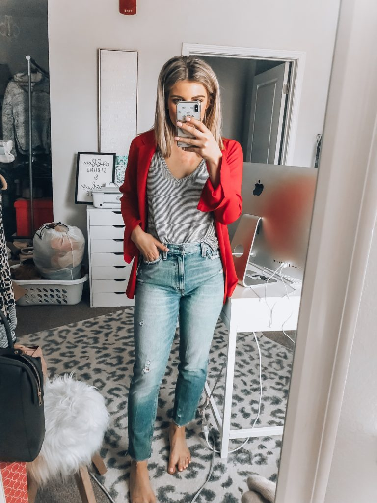 Spring Denim Styles | Abercrombie Jeans | Audrey Madison Stowe a fashion and lifestyle blogger