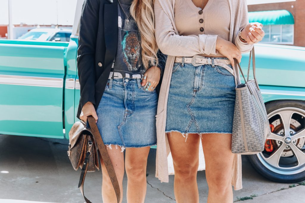 Styling A Denim Skirt   Texas Blogger   Audrey Madison Stowe a fashion and lifestyle blogger