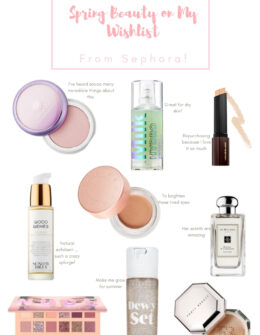 Spring Beauty Wishlist for the Sephora Beauty Insider Spring Sale 2019 | Audrey Madison Stowe a fashion and lifestyle blogger based in Texas