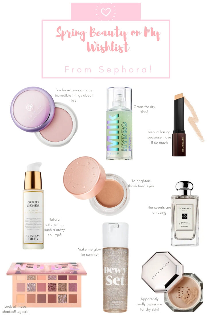 My Spring Beauty Wish list | Sephora Beauty Insider Sale
