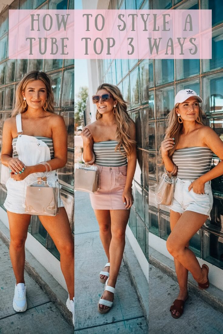 How To Style a Tube Top 3 Ways