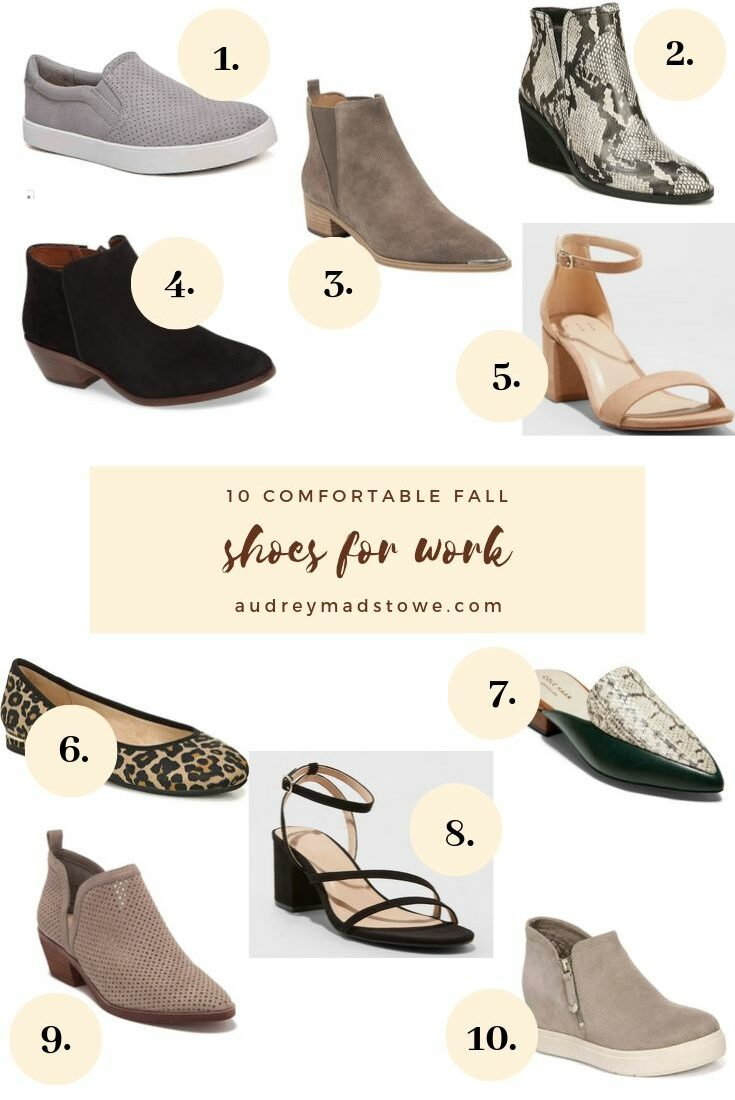 10 Comfortable Fall Shoes For Work | Audrey Madison Stowe a fashion and lifestyle blogger