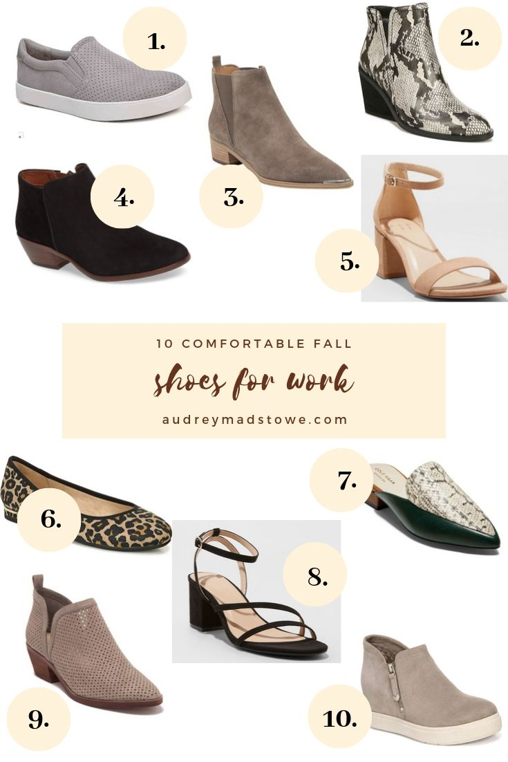 10 Comfortable Shoes For Work | Audrey