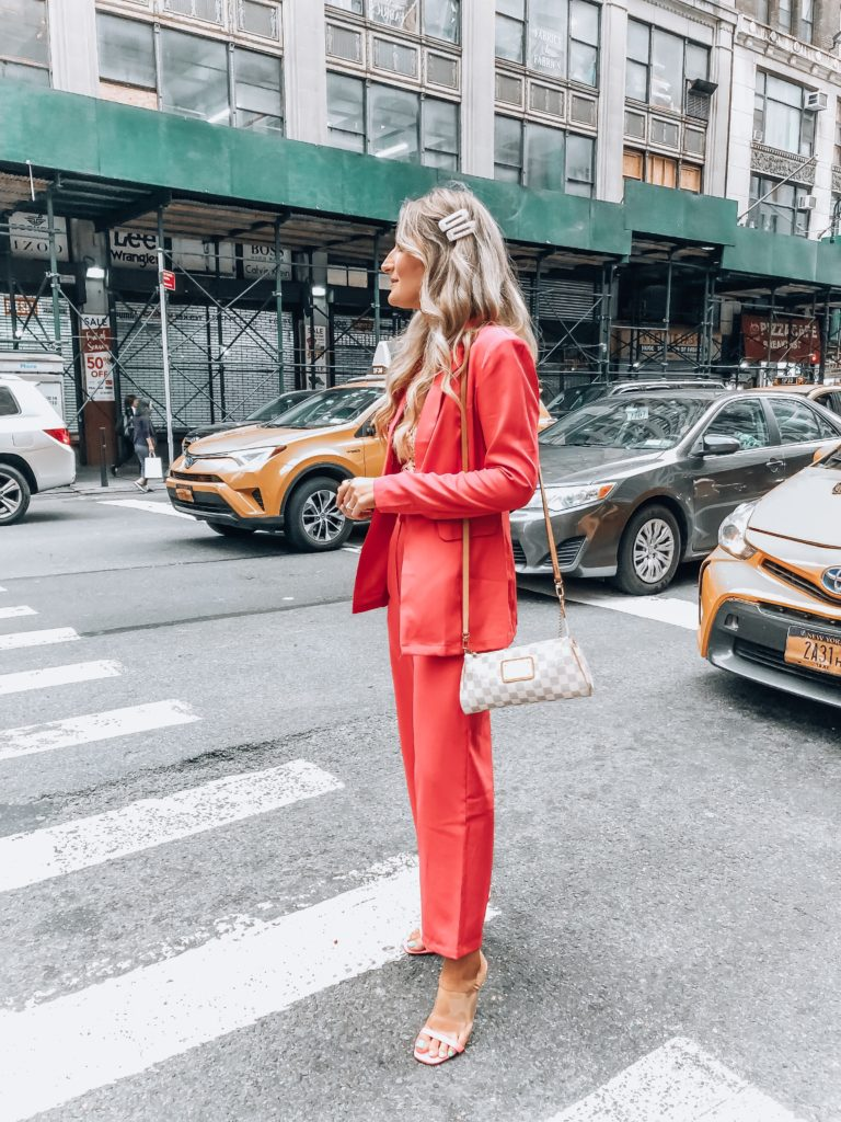 New York Fashion Week 2019 | Pink power suit | Audrey Madison Stowe a fashion and lifestyle blogger
