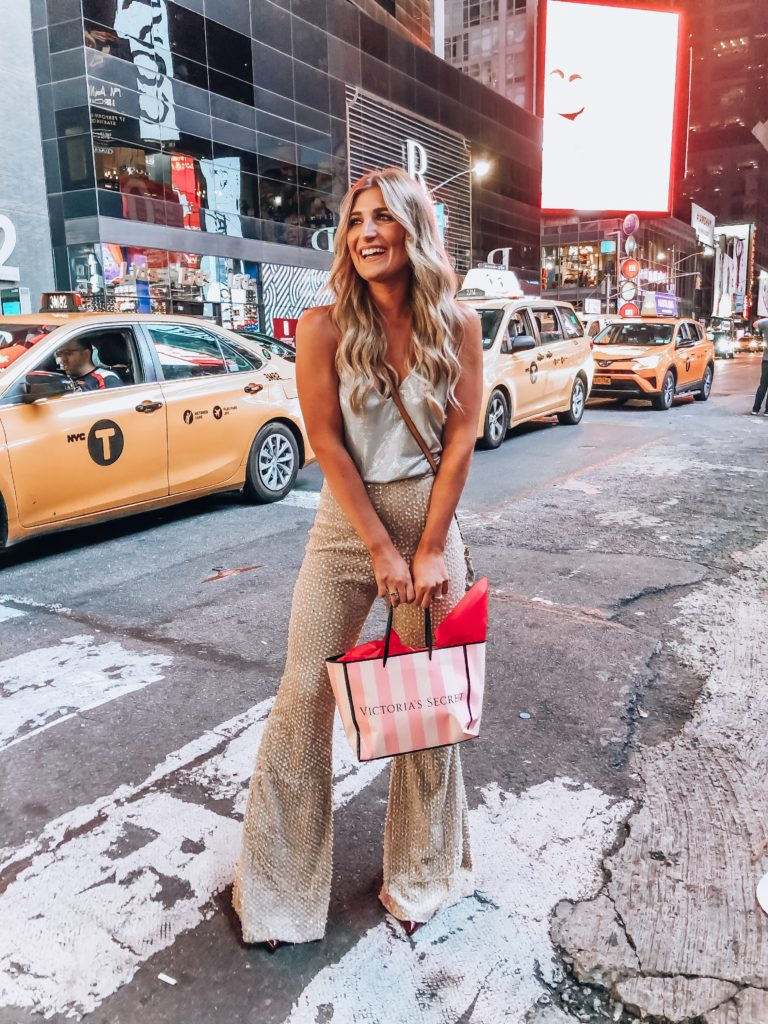 New York Fashion Week 2019 | Attending NYFW | Audrey Madison Stowe a fashion and lifestyle blogger | Victoria's Secret Times Square