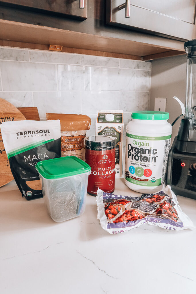 Protein Smoothie Recipe | Audrey Madison Stowe a fashion and lifestyle blogger
