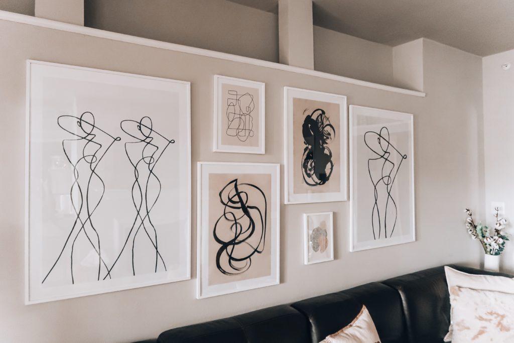 Modern Living Room Gallery Wall   Audrey Madison Stowe a fashion and lifestyle blogger