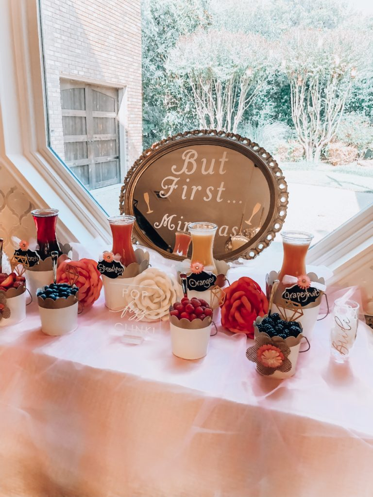 Bridal Shower Mimosa Bar| Audrey Madison Stowe a fashion and lifestyle blogger