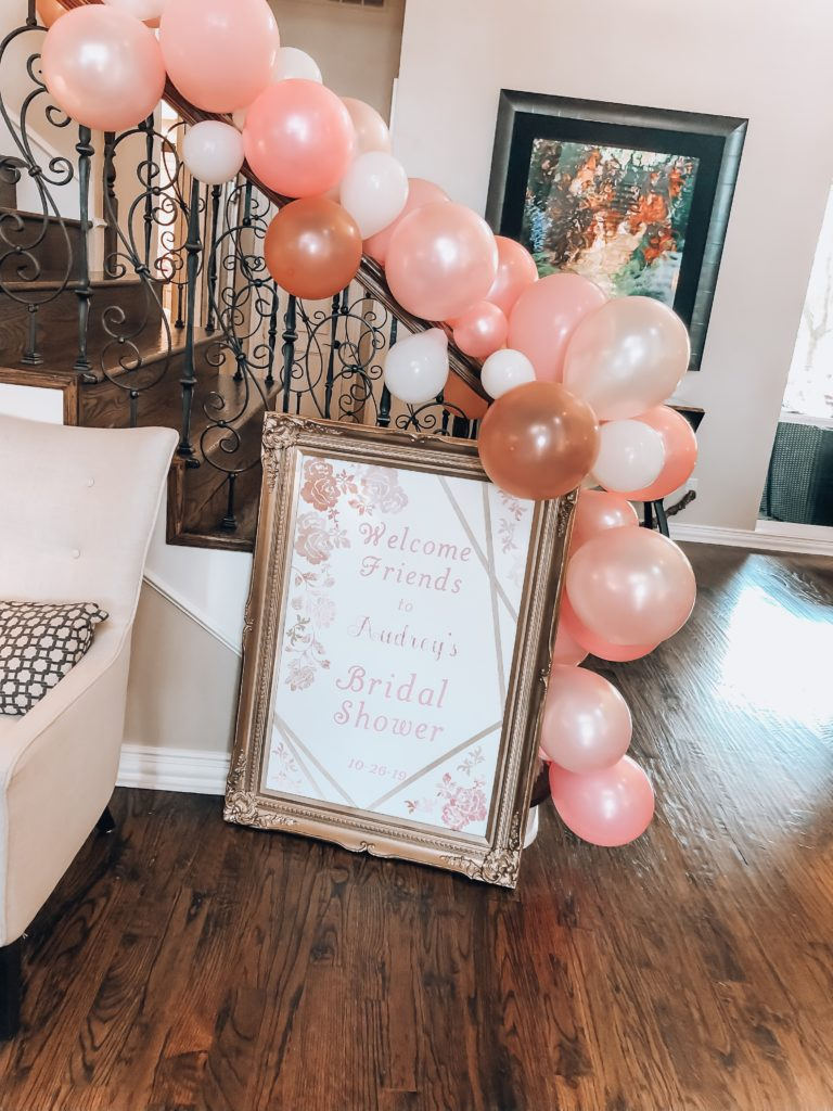 Girly Bridal Shower Welcome Sign | Audrey Madison Stowe a fashion and lifestyle blogger