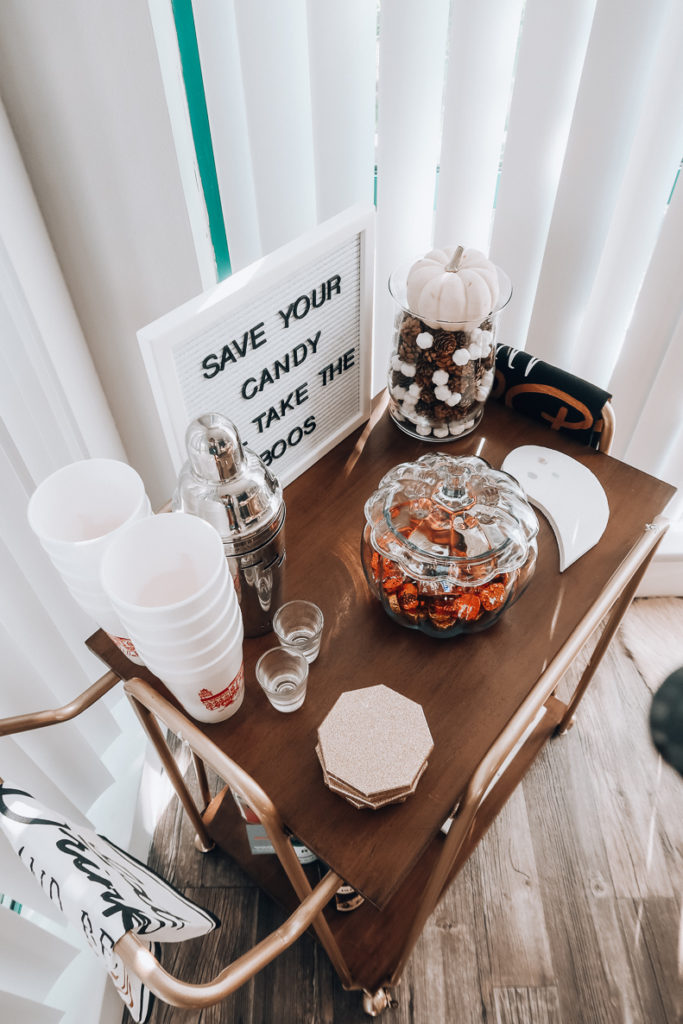I'll Take the Boos | How To Style A Fall Bar Cart | Audrey Madison Stowe a fashion and lifestyle blogger