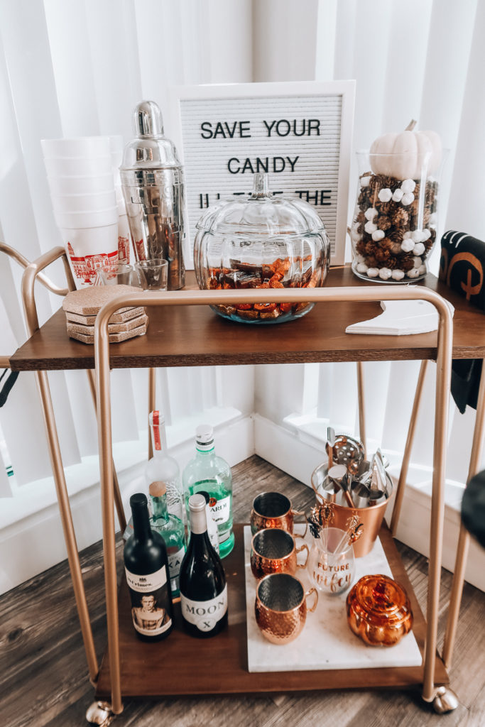 Fall Bar Cart   Audrey Madison Stowe a fashion and lifestyle blogger